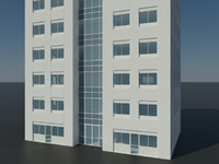 3d model skyscraper office building