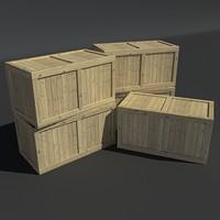 3d wood crate - model