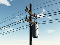 power utility poles 3d 3ds