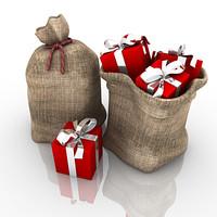 Santa Xmas Present Set