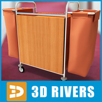 housekeeping cart 3d model