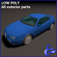 alpha romeo gtv 3d model