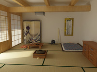 japanese bedroom 3d max