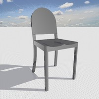 aluminum chair 3d model