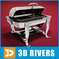 rectangular chafing dish 3d max