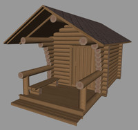 3d finnish sauna model
