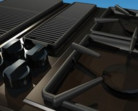 3ds max cooktop jenn-air 45