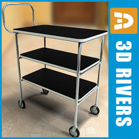 Room service cart 01 by 3DRivers
