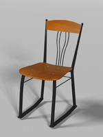 steel framed chair wood dxf