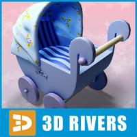 Toy baby carriage 07 by 3DRivers