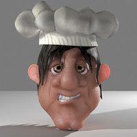 Cartoon Chef Head