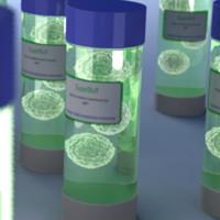 vial cells 3d x