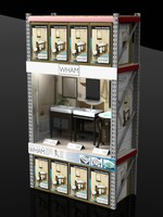 warehouse display rack vanity 3d model