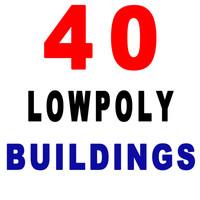 40 buildings 3d max