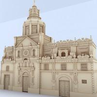 classic building 3d 3ds