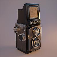 reflex camera tlr yashicaflex 3d model