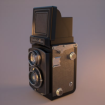 reflex camera tlr yashicaflex 3d model - Yashicaflex TLR Camera... by fast_zombie