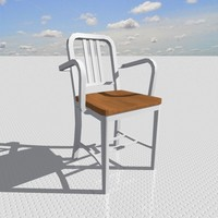 3d model armchair designed interior