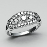 Jewelry-Diamond white gold ring-2