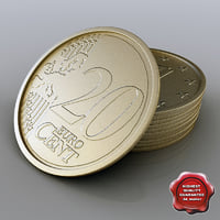 3d 20 euro cent model