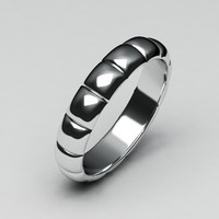 White gold wedding band-2