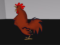 rooster 3d 3ds