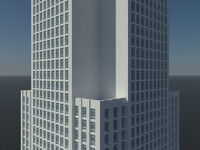 free skyscraper office building 3d model