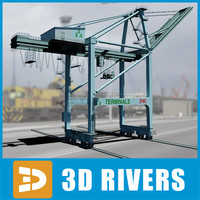 Gantry crane 02 by 3DRivers