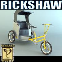 3d obj rickshaw