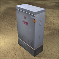 electric utility box 3d model