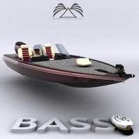 3d model bass boat