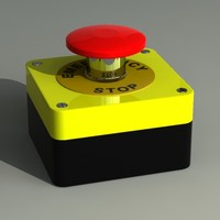 3d model emergency button