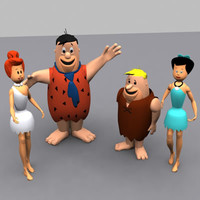 cartoon characters flintstones 3d 3ds