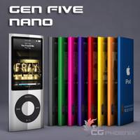 gen ipod nano 3d c4d