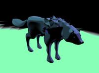 wolf fantasy 3d model