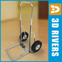 3ds max luggage cart