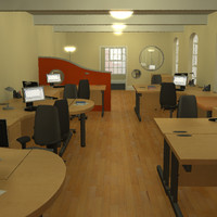 office desks furniture 3d model