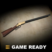 3d model henry rifle gun
