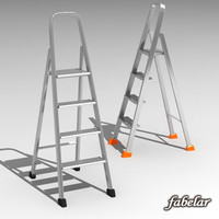 metal ladder 3d max