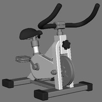 Animated Cartoon Spinning Bike