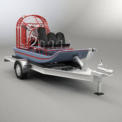 Airboat and Trailer