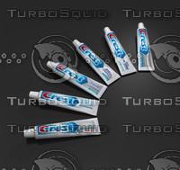 3d crest toothpaste tubes model