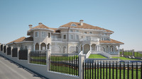 3ds max mediterranean villa