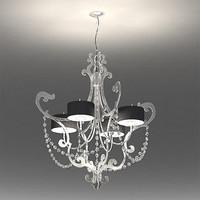 chandelier cantori lago foglia 3d max