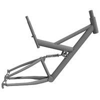 3d bike frame model
