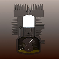 3d model 2 stroke car engine