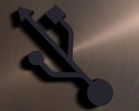 USB logo 3D