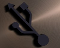 3d usb logo model