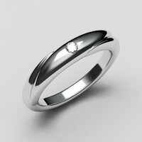 White gold wedding band-6
