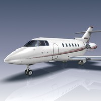 3d model of hawker 800xp